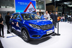 Asia China, Beijing, 2016 international automobile exhibition, indoor automotive indexhibition hall,SUV, fengguang580. China and Asia, Beijing, 2016 royalty free stock photos