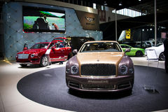 Asia China, Beijing, 2016 international automobile exhibition, Indoor exhibition hall,Bentley Mulsanne EWB Royalty Free Stock Photos
