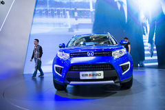 Asia China, Beijing, 2016 international automobile exhibition, indoor exhibition hall,city Small  SUV, Jiangling Yu Sheng S330 Stock Photography