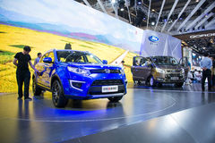 Asia China, Beijing, 2016 international automobile exhibition, indoor exhibition hall,city Small  SUV, Jiangling Yu Sheng S330 Stock Images