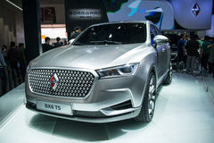Asia China, Beijing, 2016 international automobile exhibition, indoor exhibition hall,Compact CoupeSUV, treasure BX6TS concept car Royalty Free Stock Image