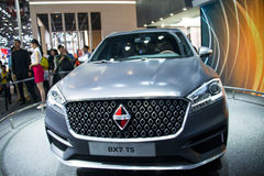 Asia China, Beijing, 2016 international automobile exhibition, indoor exhibition hall,Compact CoupeSUV, treasure BX7TS concept car Stock Images