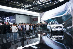 Asia China, Beijing, 2016 international automobile exhibition, Indoor exhibition hall,Concept car, Infiniti Stock Photo