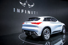 Asia China, Beijing, 2016 international automobile exhibition, Indoor exhibition hall,Concept car, Infiniti Royalty Free Stock Photos