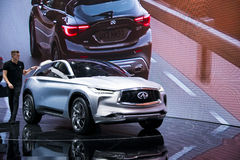 Asia China, Beijing, 2016 international automobile exhibition, Indoor exhibition hall,Concept car, Infiniti Stock Photography