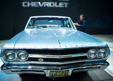 Asia China, Beijing, 2016 international automobile exhibition, indoor exhibition hall,The first generation of Chevrolet Malibu Stock Image