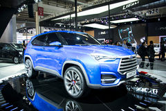Asia China, Beijing, 2016 international automobile exhibition, Indoor exhibition hall,Jianghuai, SC5 concept car Royalty Free Stock Images