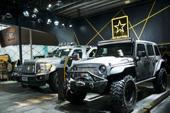 Asia China, Beijing, 2016 international automobile exhibition, Indoor exhibition hall,Off road vehicle, George Patton Royalty Free Stock Photography