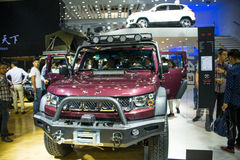 Asia China, Beijing, 2016 international automobile exhibition, indoor exhibition hall,Off-road vehicles, Beijing jeep Royalty Free Stock Images