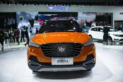 Asia China, Beijing, 2016 international automobile exhibition, Indoor exhibition hall, Small SUV, Pentium X4. China and Asia, Beijing, 2016 international stock images