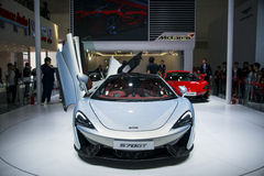 Asia China, Beijing, 2016 international automobile exhibition, Indoor exhibition hall,Super sports car, MCLAREN S70GT Royalty Free Stock Photo