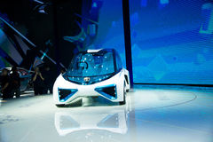 Asia China, Beijing, 2016 international automobile exhibition, Indoor exhibition hall,TOYOTA, FCV Plus concept car Stock Photo