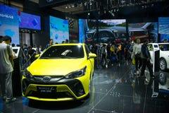 Asia China, Beijing, 2016 international automobile exhibition, indoor exhibition hall,Toyota YARiS - L Stock Photo