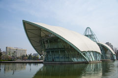 Asia China, Beijing international sculpture park, comprehensive experience pavilion Stock Photo