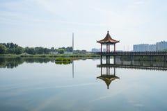 Asia China, Beijing, Jianhe Park, antique building, Pavilion Stock Images