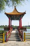 Asia China, Beijing, Jianhe Park, antique building, Pavilion Stock Photo