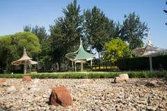 Asia China, Beijing, Jianhe Park, Pavilion Royalty Free Stock Images