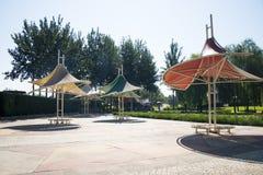 Asia China, Beijing, Jianhe Park, Pavilion Stock Image