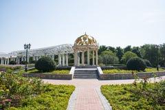 Asia China, Beijing, Jianhe Park, wrought iron, circular Pavilion, a long corridor, Royalty Free Stock Images