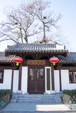 Asia, China, Beijing, jingzhongdu park, archaize building gate house Royalty Free Stock Photography