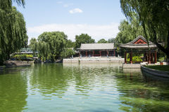 Asia China, Beijing, Longtan Lake Park,Architectural landscape Royalty Free Stock Photos