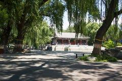 Asia China, Beijing, Longtan Lake Park,Garden landscape, Pavilion Royalty Free Stock Photos