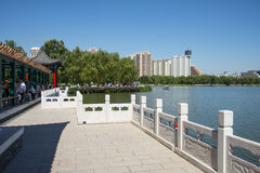 Asia China, Beijing, lotus pond park,Architecture and landscape, Royalty Free Stock Photo