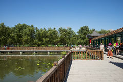 Asia China, Beijing, lotus pond park,Architecture and landscape, Royalty Free Stock Images