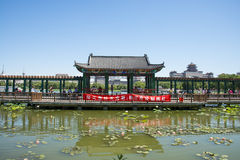 Asia China, Beijing, lotus pond park,Architecture and landscape, pavilion Gallery Stock Photography