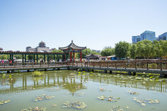 Asia China, Beijing, lotus pond park,Architecture and landscape, pavilion Gallery Stock Image