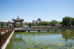 Asia China, Beijing, lotus pond park,Architecture and landscape, pavilion Gallery Royalty Free Stock Images