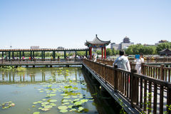 Asia China, Beijing, lotus pond park,Architecture and landscape, pavilion Gallery Royalty Free Stock Photography