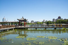 Asia China, Beijing, lotus pond park,Architecture and landscape, pavilion Gallery Royalty Free Stock Photos