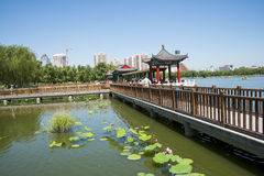 Asia China, Beijing, lotus pond park,Architecture and landscape, pavilion Gallery Royalty Free Stock Photo