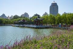 Asia China, Beijing, lotus pond park, Lakeview, Stock Photos