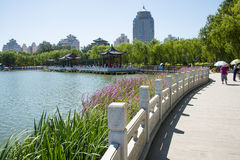 Asia China, Beijing, lotus pond park, Lakeview, Stock Photography