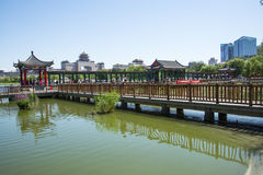 Asia China, Beijing, lotus pond park, Lakeview, Pavilion Gallery Stock Photo