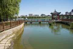 Asia China, Beijing, lotus pond park, Lakeview, Pavilion Gallery Stock Image
