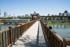 Asia China, Beijing, lotus pond park, Lakeview, Pavilion Gallery Stock Photography