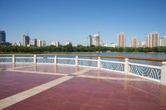 In Asia, China, Beijing, lotus pond park,Viewing platform, Stock Photography