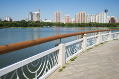In Asia, China, Beijing, lotus pond park,Viewing platform, Royalty Free Stock Photography