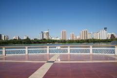 In Asia, China, Beijing, lotus pond park,Viewing platform, Royalty Free Stock Image