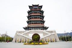 In Asia, China, Beijing, Mentougou, the antique building, Yong ding lou Stock Photos