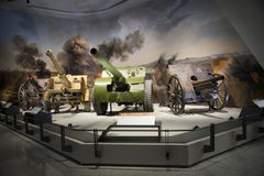 Asia China, Beijing, military museum, indoor exhibition hall Stock Image