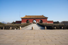 Asia China, Beijing, Ming Dynasty Tombs, Great Palace Gate Stock Photo