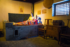 Asia China, Beijing Minghuang waxwork Palace,Historical and cultural landscape of the Ming Dynasty in China. Eijing Ming Tomb Minghuang waxwork palace, is Royalty Free Stock Photos