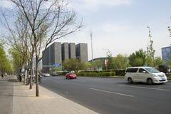 Asia China, Beijing, modern buildings, City traffic, street view Stock Photos