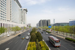 Asia China, Beijing, modern buildings, City traffic Royalty Free Stock Photography