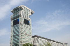 Asia China, Beijing, modern buildings, Pangu Plaza Royalty Free Stock Images