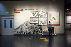 Asia China, Beijing,Museum of the War of Peoples Resistance Against Japanese Aggression,Indoor exhibition Royalty Free Stock Photography